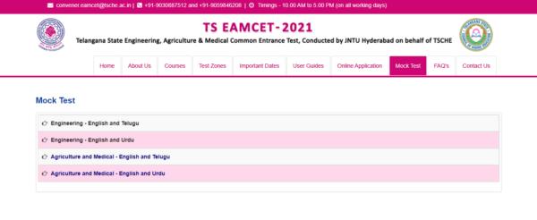 TS EAMCET Mock Test