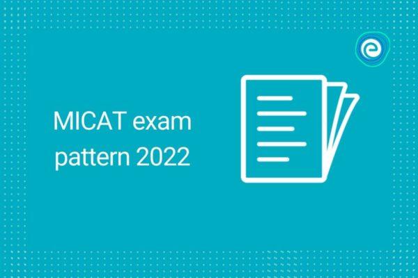 MICAT exam pattern 2022