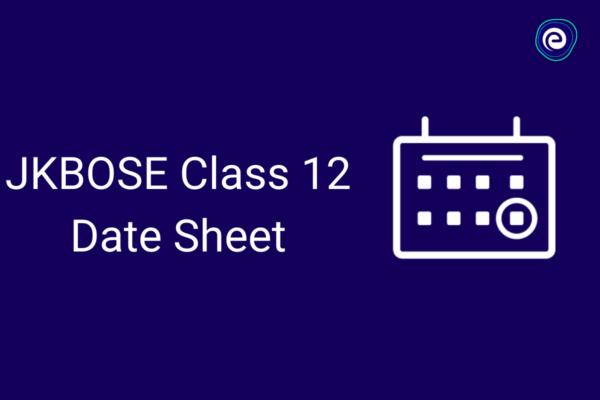 JKBOSE Class 12 Date Sheet