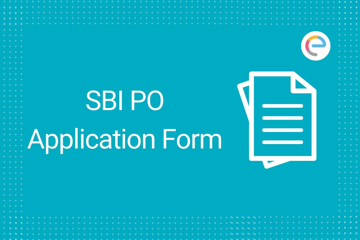 SBI PO Application Form