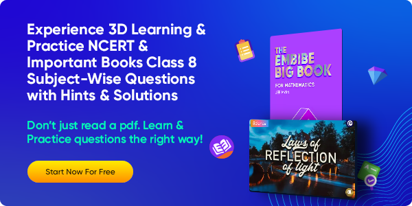 45_Experience 3D Learning & Practice NCERT & Important Books Class 8 Subject-Wise Questions with Hints & Solutions