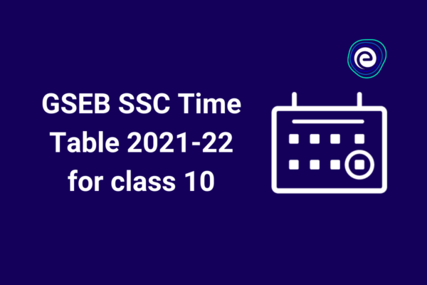 GSEB SSC Class 10 timetable