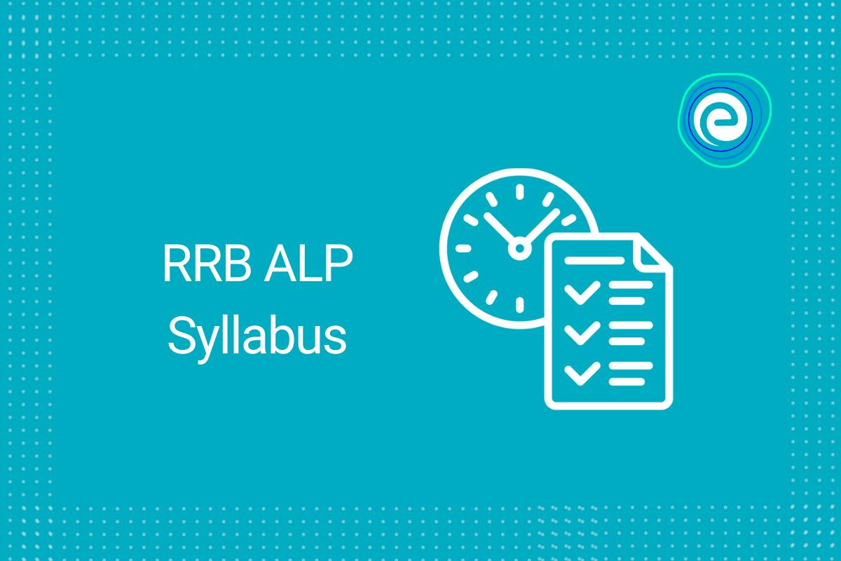 RRB ALP Syllabus
