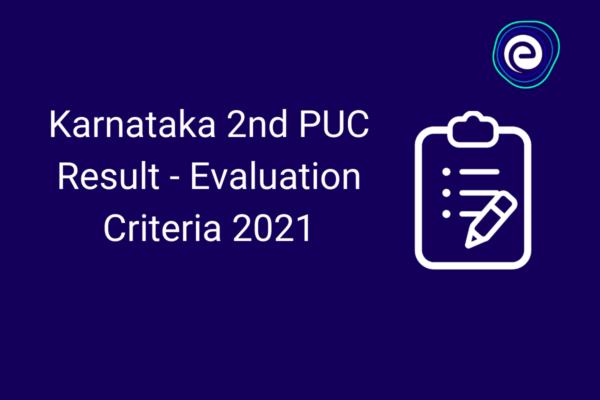 Karnataka 2nd PUC Result 2021