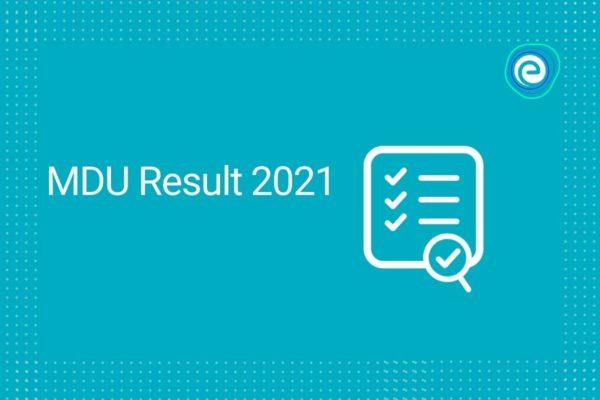 MDU Result 2021