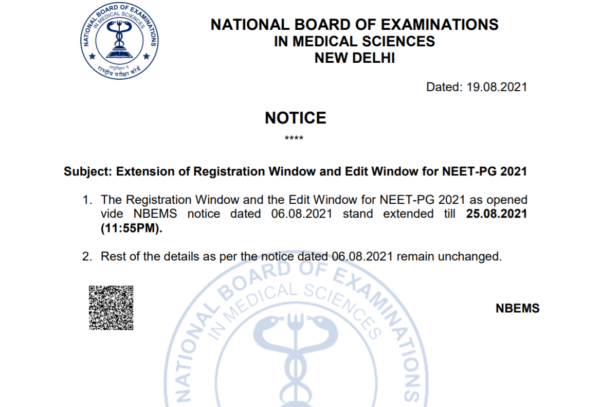 NEET PG Correction extension date extended