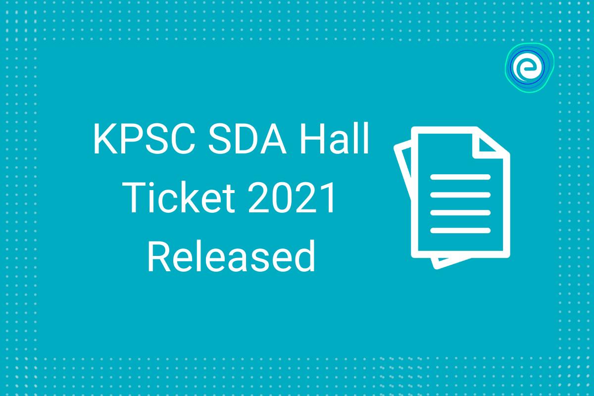 KPSC SDA Admit Card