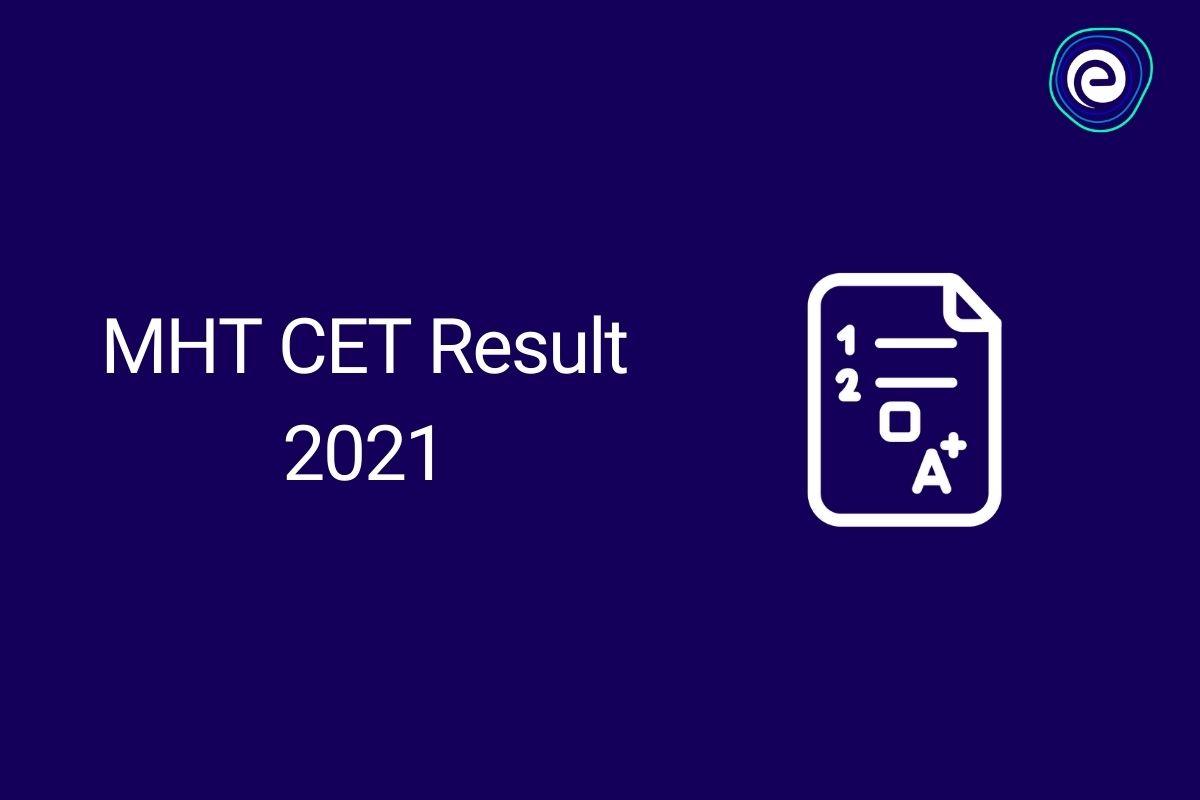 MHT CET 2021 Result